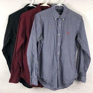 Ralph Lauren Cotton Shirt Lot (3 Shirts)